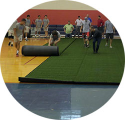 "1/2"" thick sport turf"